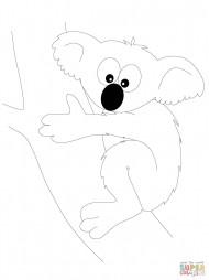 Смешной медвежонок-коала