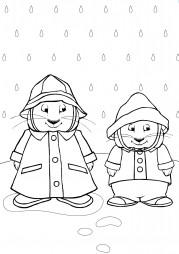 Макс и Руби под дождем