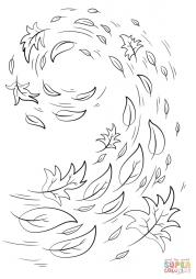 Кружащиеся осенние листья