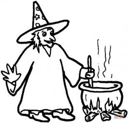 Ведьма варит свое зелье