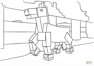 Конь из Майнкрафт