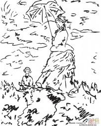 """Прогулка. Дама с зонтиком"". Клод Моне"