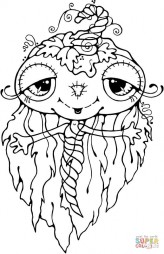 Тыквенное привидение-девочка