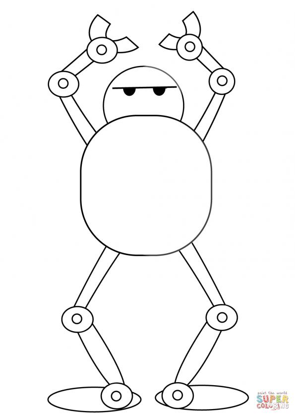Раскраска Технодэнс робота, распечатать или скачать из ...