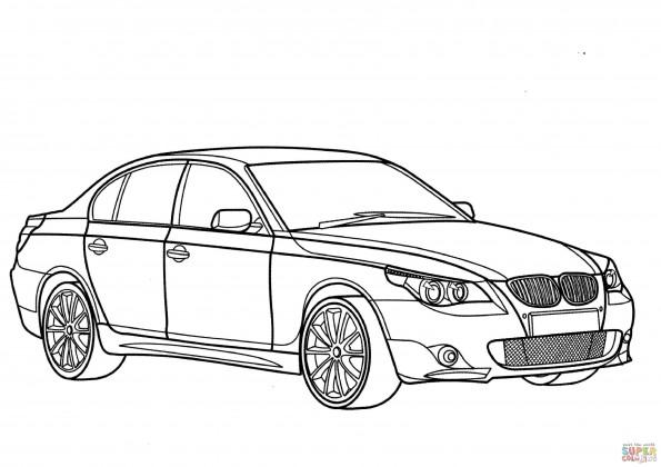 Раскраска Автомобиль BMW 5 Series, распечатать или скачать ...