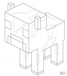 Телёнок грибной коровы из Майнкрафт