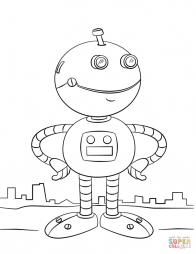 Милый мультяшный робот