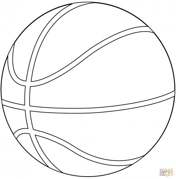раскраска баскетбольный мяч распечатать или скачать из