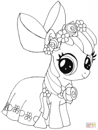 my little pony apple bloom coloring page free printable - HD 1118×1482