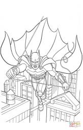 Бэтмен летит по улицам
