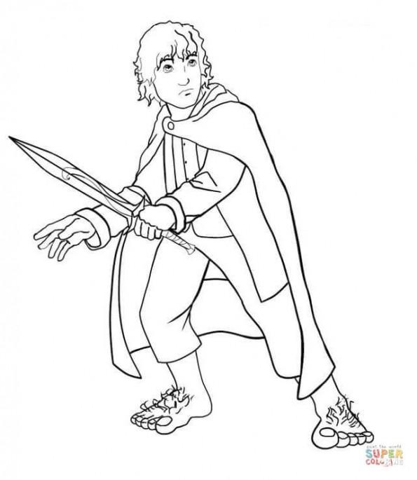 Раскраска Фродо, распечатать или скачать из категории ...