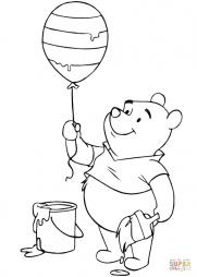 Винни Пух с пасхальным воздушным шариком