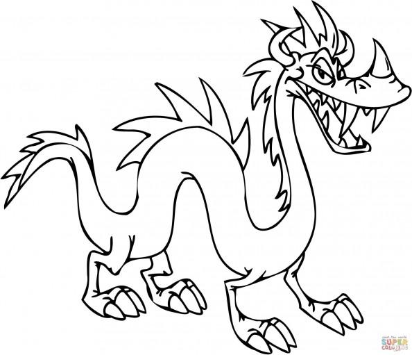 Раскраска Опасный дракон, распечатать или скачать из ...