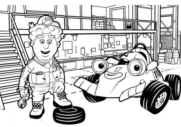 Раскраска Рори и Крис в мастерской, распечатать или ...