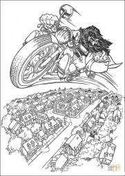 Хагрид на мотоцикле