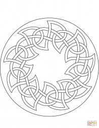 Мандала с кельтскими мотивами