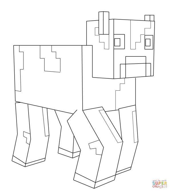Раскраска Корова из Майнкрафт, распечатать или скачать из ...