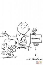 Чарли Браун посылает валентинку любимой