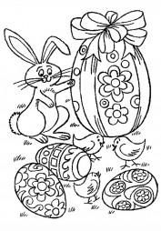 Зайка и пасхальные яйца