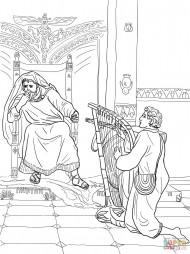 Давид играет на арфе для Саула