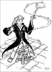 Гермиона с волшебной палочкой