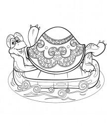Черепаха на матрасе