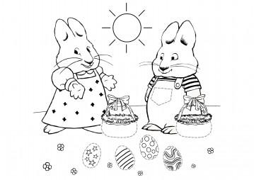 Макс и Руби делят пасхальные яйца