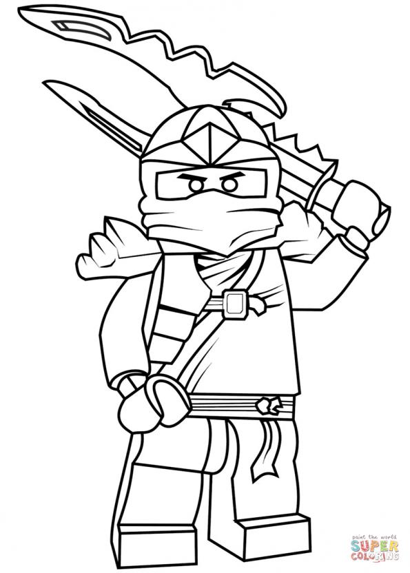 Раскраска Джей ZX из Lego Ninjago, распечатать или скачать ...