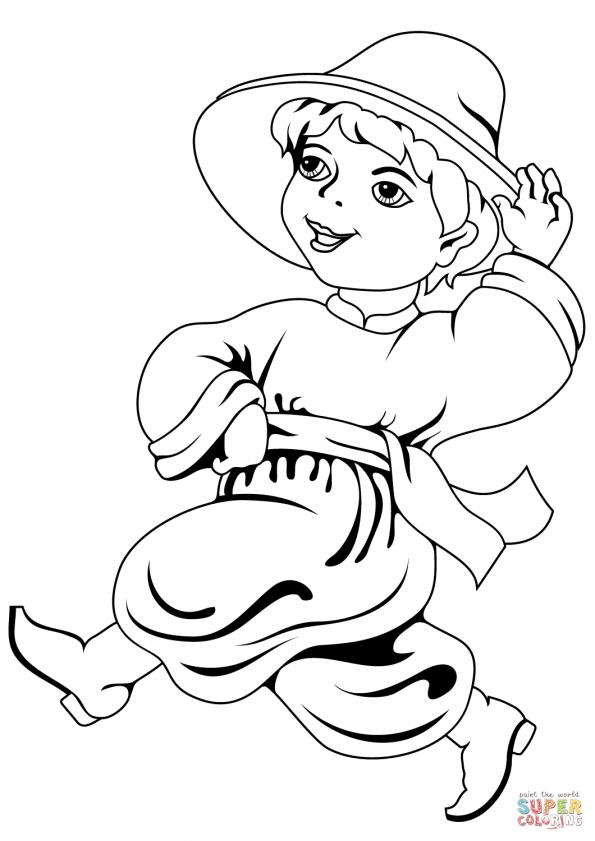 Раскраска Украинский мальчик, распечатать или скачать из ...