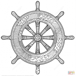 Морской штурвал в технике дзентангл