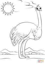 Мультяшный страус
