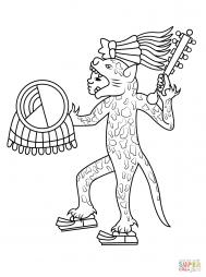 Ацтекский воин в костюме ягуара