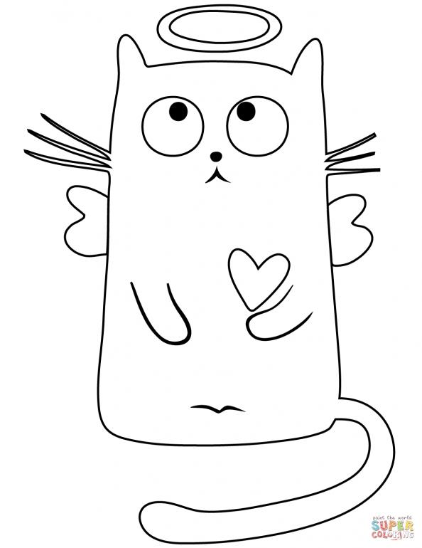 Распечатать раскраски смешных котов