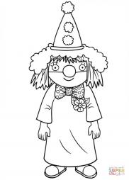 Маленькая принцесса в костюме клоуна