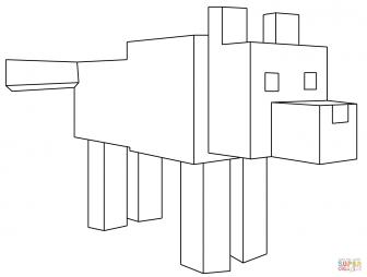 Волк из Майнкрафт