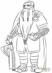 Old Dwarf with Axe