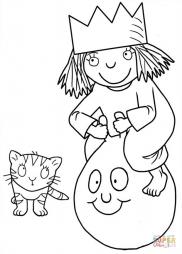 Маленькая принцесса и котенок