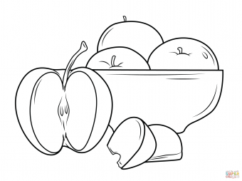 Яблока в вазе