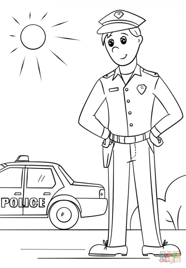 Картинки полицейского карандашом