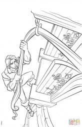 Флинн Райдер карабкается в башню