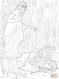 Иохаведа кладет маленького Моисея в Нил