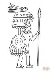 Изображение ацтекского воина в Кодексе Мендоса