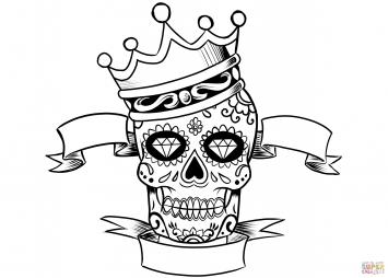 Сахарный череп в короне