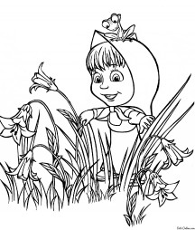 Маша с лягушонком