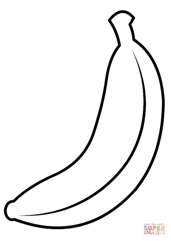 Картинки банан трафарет