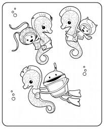 Умизуми на морских коньках