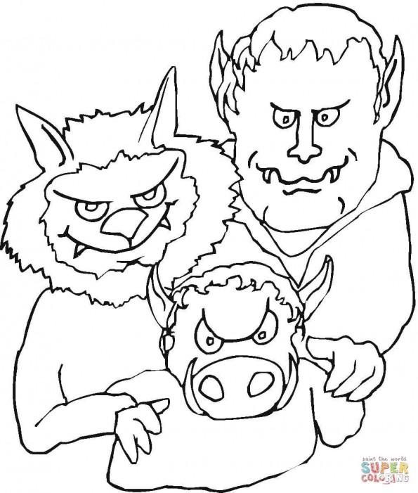 Раскраска Демоническая семья, распечатать или скачать из ...