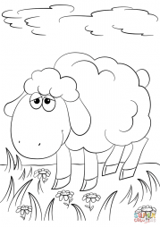 Милая мультяшная овечка