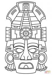 Маска индейцев майя для лица