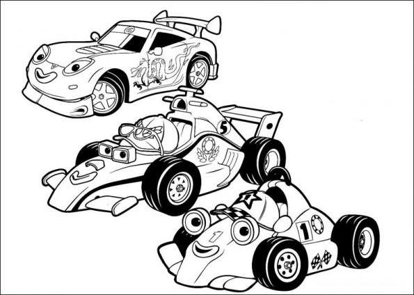Раскраска Три гонки, распечатать или скачать из категории ...